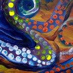 Out of PaintCo Pus  Modern Abstract Fish Art Artwork Paintings J Vincent Scarpace