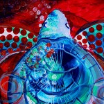 Sea Turtle All Seasons  Modern Abstract Fish Art Artwork Paintings J Vincent Scarpace
