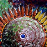 Just a Thought  Modern Abstract Fish Art Artwork Paintings J Vincent Scarpace