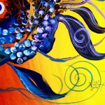 Pardi Gras Fish  Modern Abstract Fish Art Artwork Paintings J Vincent Scarpace