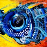 Fake Hammerhead Thinks its Real  Modern Abstract Fish Art Artwork Paintings J Vincent Scarpace