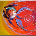Intuition One  Modern Abstract Fish Art Artwork Paintings J Vincent Scarpace