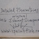 Detailed Pleasantries  Modern Abstract Fish Art Artwork Paintings J Vincent Scarpace