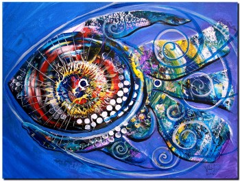 Detailed Pleasantries  Abstract Fish Art Artwork Paintings J Vincent Scarpace