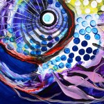 Flow Mistress Sally  Modern Abstract Fish Art Artwork Paintings J Vincent Scarpace