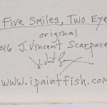 Five Smiles Two Eyes  Modern Abstract Fish Art Artwork Paintings J Vincent Scarpace