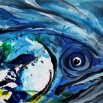 Ludwig Van Fishthoven  Modern Abstract Fish Art Artwork Paintings J Vincent Scarpace