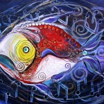 Wolfgang Amadeus FishArt  Modern Abstract Fish Art Artwork Paintings J Vincent Scarpace