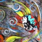 Milky Way Momma  Modern Abstract Fish Art Artwork Paintings J Vincent Scarpace