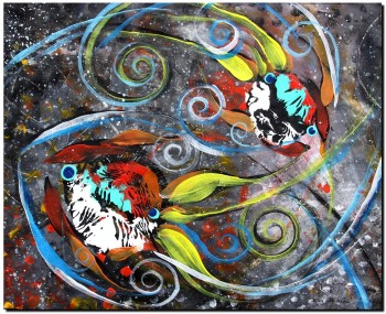 Milky Way Momma  Abstract Fish Art Artwork Paintings J Vincent Scarpace