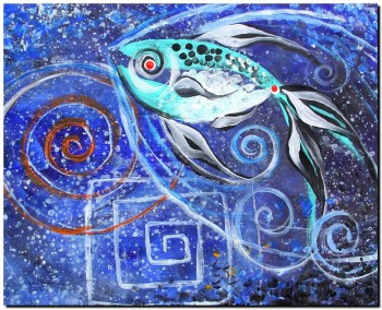 Spiraled Spiral Squared Spiral  Abstract Fish Art Artwork Paintings J Vincent Scarpace