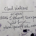 Cloud Walkers  Modern Abstract Fish Art Artwork Paintings J Vincent Scarpace