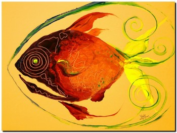 Prism Phish Perfected  Modern Abstract Fish Art Artwork Paintings J Vincent Scarpace