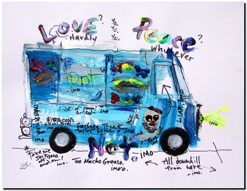 Food Truck Jerk Off  Modern Abstract Fish Art Artwork Paintings J Vincent Scarpace