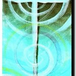 Sup Jesus Black and Teal  Modern Abstract Fish Art Artwork Paintings J Vincent Scarpace