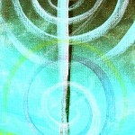 Sup Jesus Metallic Teal and Purple  Modern Abstract Fish Art Artwork Paintings J Vincent Scarpace
