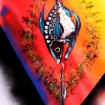 Power Vee  Modern Abstract Fish Art Artwork Paintings J Vincent Scarpace