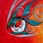 Three to the West  Modern Abstract Fish Art Artwork Paintings J Vincent Scarpace
