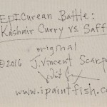 EPICurean Battle Kashmir Curry vs. Saffron  Modern Abstract Fish Art Artwork Paintings J Vincent Scarpace