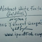 Abstract White Fantail Goldfish  Modern Abstract Fish Art Artwork Paintings J Vincent Scarpace