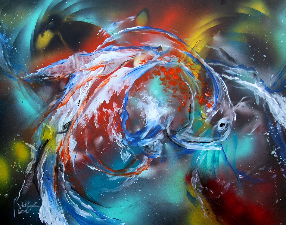 Ldquo Abstract White Fantail Goldfish Rdquo 2016 World