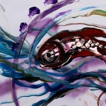 My New Friend from China  Modern Abstract Fish Art Artwork Paintings J Vincent Scarpace