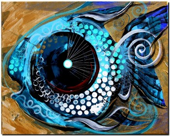 Fish Like An Egyptian  Modern Abstract Fish Art Artwork Paintings J Vincent Scarpace