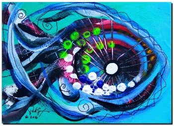 Baby Fish  Modern Abstract Fish Art Artwork Paintings J Vincent Scarpace