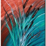 Abstract Cat Tails Two  Modern Abstract Fish Art Artwork Paintings J Vincent Scarpace