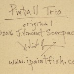 Pinball Trio  Modern Abstract Fish Art Artwork Paintings J Vincent Scarpace