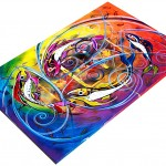 Chaotic Symphony  Modern Abstract Fish Art Artwork Paintings J Vincent Scarpace