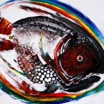 Finga Fish One  Modern Abstract Fish Art Artwork Paintings J Vincent Scarpace