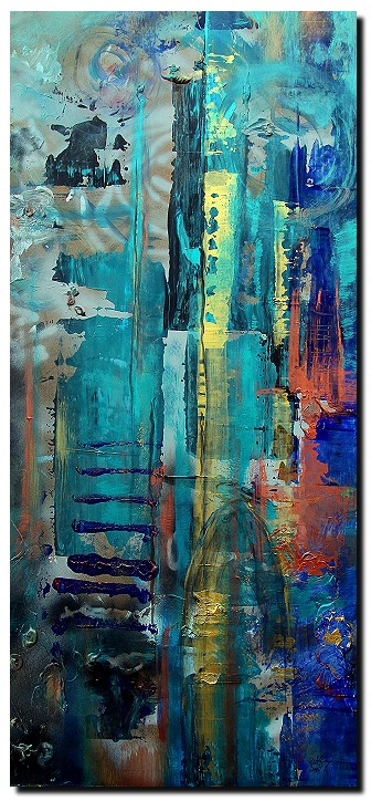 St. Patricks Cathedral  NYC  Modern Abstract Fish Art Artwork Paintings J Vincent Scarpace