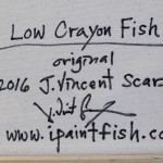 Low Crayon Fish  Modern Abstract Fish Art Artwork Paintings J Vincent Scarpace