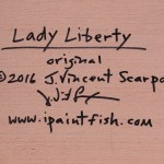 Lady Liberty  Modern Abstract Fish Art Artwork Paintings J Vincent Scarpace