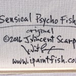 Sensical Psycho Fish  Modern Abstract Fish Art Artwork Paintings J Vincent Scarpace