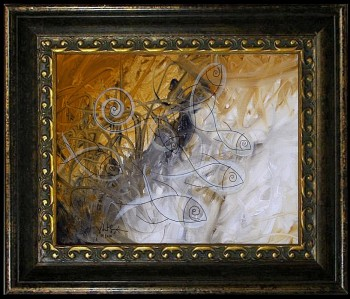Wheat Field Fish  Modern Abstract Fish Art Artwork Paintings J Vincent Scarpace