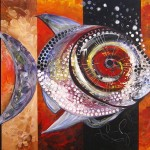 West End Fish  Modern Abstract Fish Art Artwork Paintings J Vincent Scarpace