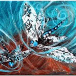 Learning to Fly Abstract Dragon Fly   Modern Abstract Fish Art Artwork Paintings J Vincent Scarpace