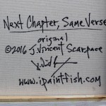Next Chapter Same Verse  Modern Abstract Fish Art Artwork Paintings J Vincent Scarpace