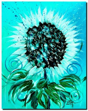 SnowFlower  Modern Abstract Fish Art Artwork Paintings J Vincent Scarpace