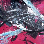 REALIZE  I Have No Friends Maybe Fish  Modern Abstract Fish Art Artwork Paintings J Vincent Scarpace