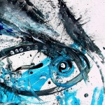 Hit it Hard  Modern Abstract Fish Art Artwork Paintings J Vincent Scarpace