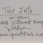 Two Into  Modern Abstract Fish Art Artwork Paintings J Vincent Scarpace