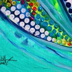 Sea Turtle  Sea Prism Skullback and Pete  Modern Abstract Fish Art Artwork Paintings J Vincent Scarpace