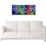 Zone Fish Thirty Eight and Three  Modern Abstract Fish Art Artwork Paintings J Vincent Scarpace