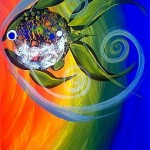 Friend Fish Again  Modern Abstract Fish Art Artwork Paintings J Vincent Scarpace