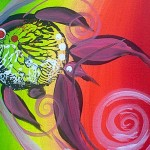 Watermelon Kiss Fish  Modern Abstract Fish Art Artwork Paintings J Vincent Scarpace