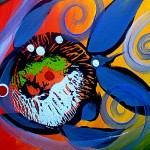 Rainbow Comps Two And One  Modern Abstract Fish Art Artwork Paintings J Vincent Scarpace