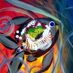 Rainbow Fish III II and I  Modern Abstract Fish Art Artwork Paintings J Vincent Scarpace